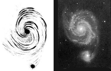 [M51, Lord Rosse vs. photo]