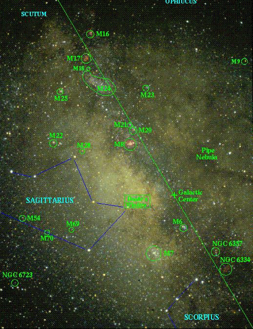 [Galactic Center Map, W. Keel]